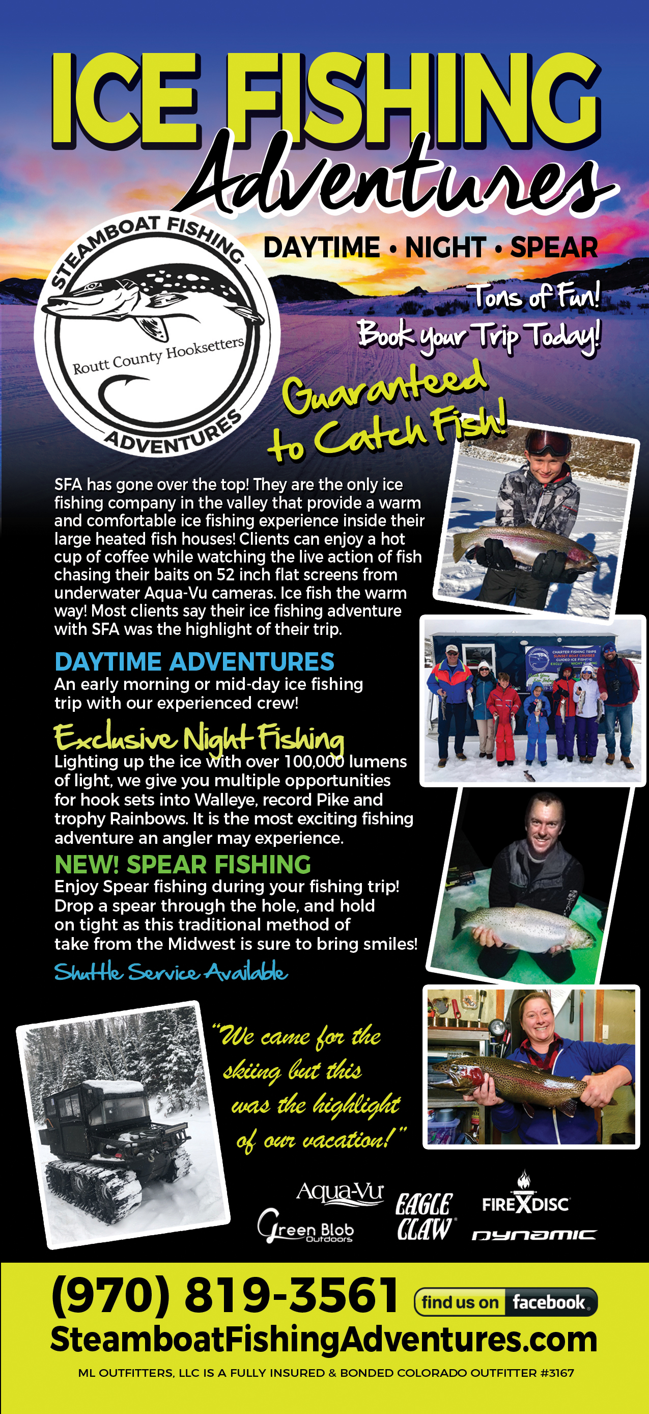 Steamboat Springs Fishing Adventures - Lake Fishing, Ice